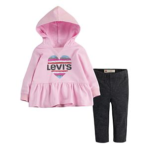 Baby Girl Levi's Peplum Hoodie & Leggings Set