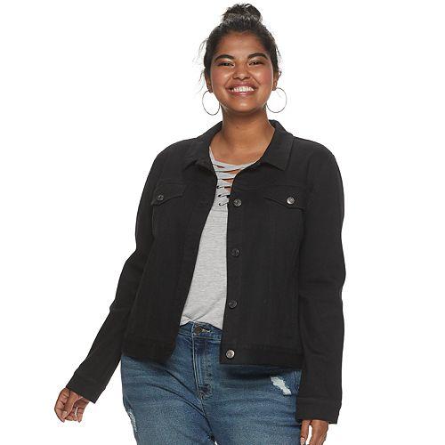 Juniors' Plus Size Mudd® Denim Jacket