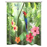 Popular Bath Parrot Shower Curtain