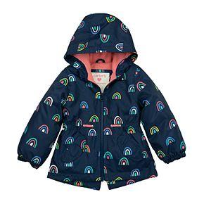 Baby Girl Carter's Rainbow Hooded Anorak Jacket