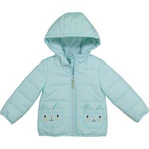 Baby Girl Carter's Kitty Heavyweight Puffer Jacket