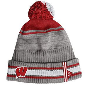 Adult Under Armour Wisconsin Badgers Pom Beanie