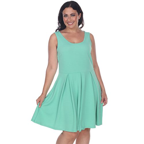 Plus Size White Mark Crystal Fit & Flare Dress