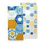 St. Nicholas Square® Hanukkah Kitchen Towel 2-pack