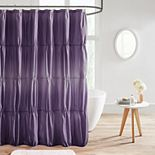 Intelligent Design Josie Ruched Ombre Printed Shower Curtain