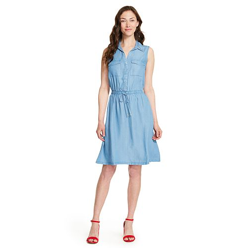 Women's IZOD Chambray Shirt Dress