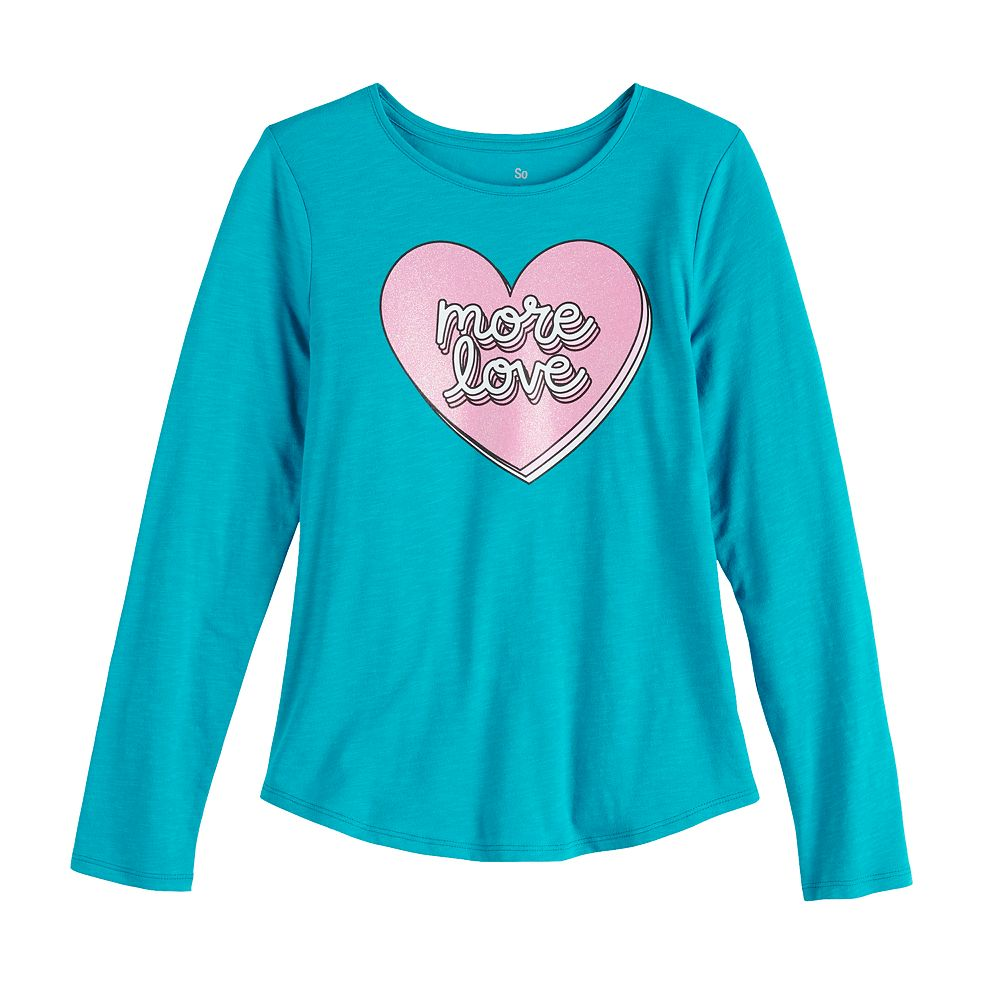 Girls 6-20 & Plus Size SO® Long Sleeve Graphic Tee
