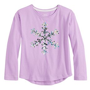 Girls 4-12 SONOMA Goods for Life? Sequined Graphic Tee