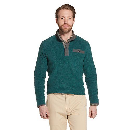 Men's G.H. Bass Arctic Terrain Polar Fleece Mockneck Pullover