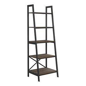 Scott Living Hamilton 5-Tier Ladder Bookshelf