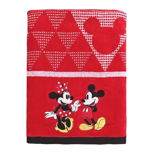 Disney Mickey Mouse Amp Minnie Mouse Bath Towel By Jumping