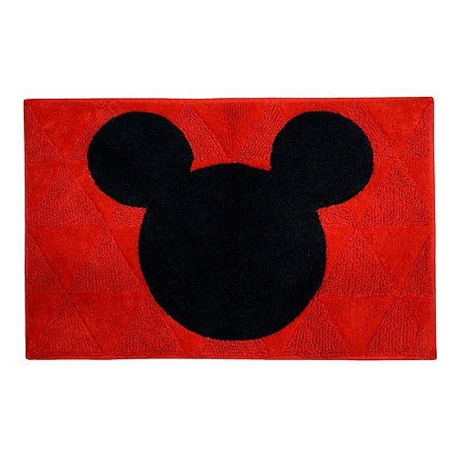 Mickey Mouse Textured Head Bath Rug