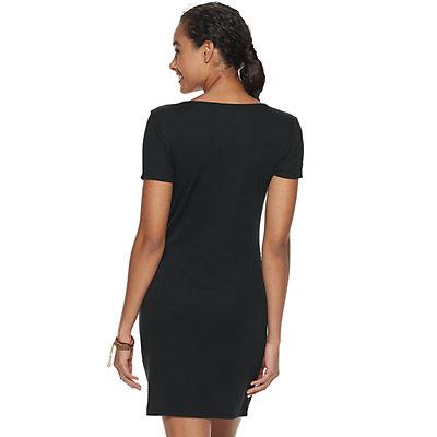 Juniors' SO® Short Sleeve Henley Bodycon Dress