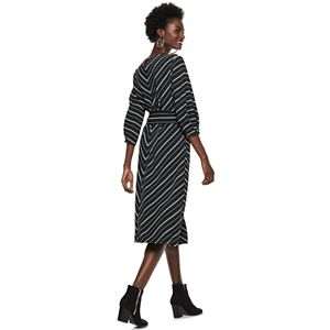 Women's Nine West Mitered Belted Dress