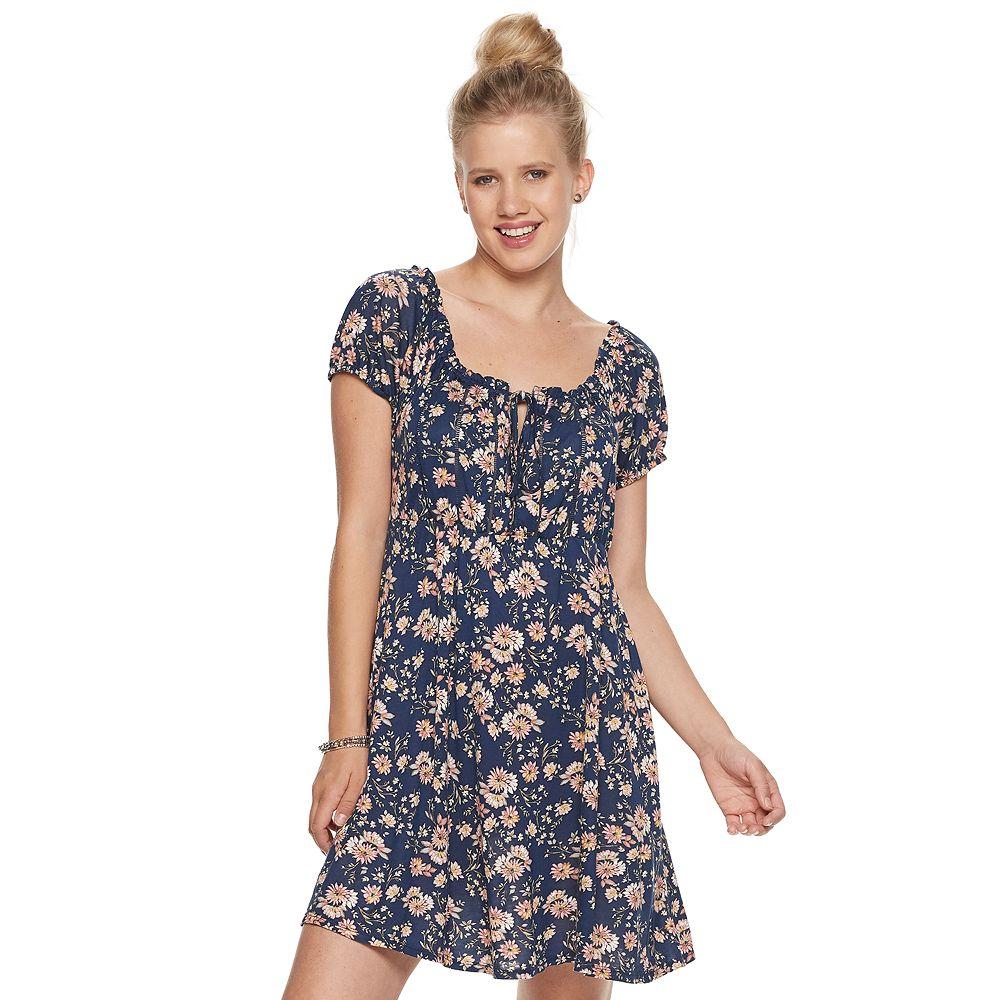 Juniors' American Rag Puff Sleeve Dress