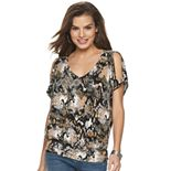 Women's Jennifer Lopez Banded Bottom Dolman Tee