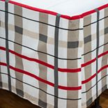 Punk Rock Animal Plaid Rizzy Bed Skirt