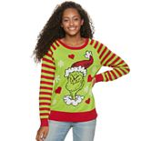 Juniors' Ugly Sweater Grinch Smile