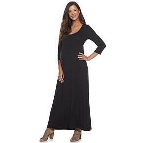 Maternity a:glow 3/4-sleeve Maxi Dress