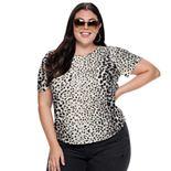 Plus Size Apt. 9® Puff Sleeve Top