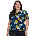 Plus Size Apt. 9® Puff Sleeve Top