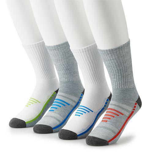 Men's Tek Gear® 4-pack Cushioned Performance Crew Socks