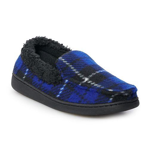 Boys Cuddl Duds® Fleece Moccasin Slippers