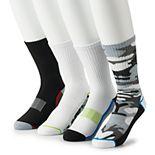 Big & Tall Tek Gear® 4-pack Cushioned Performance Crew Socks