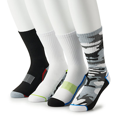 Big & Tall Tek Gear® 4-pack Cushioned Performance Quarter Socks
