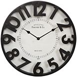 FirsTime Manor Park Wall Clock