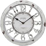 FirsTime Ivory Finish Cottage Wall Clock