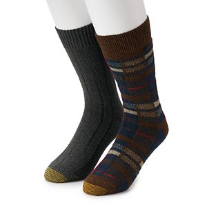 Men's GOLDTOE Lodge Collection 2pk Recycled Plaid Crew