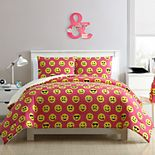 VCNY Home Facey Square Emoji Comforter Set
