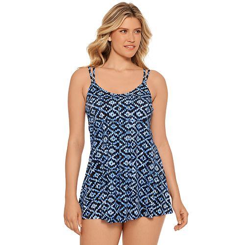Women's Croft & Barrow® Pleated Swim Dress