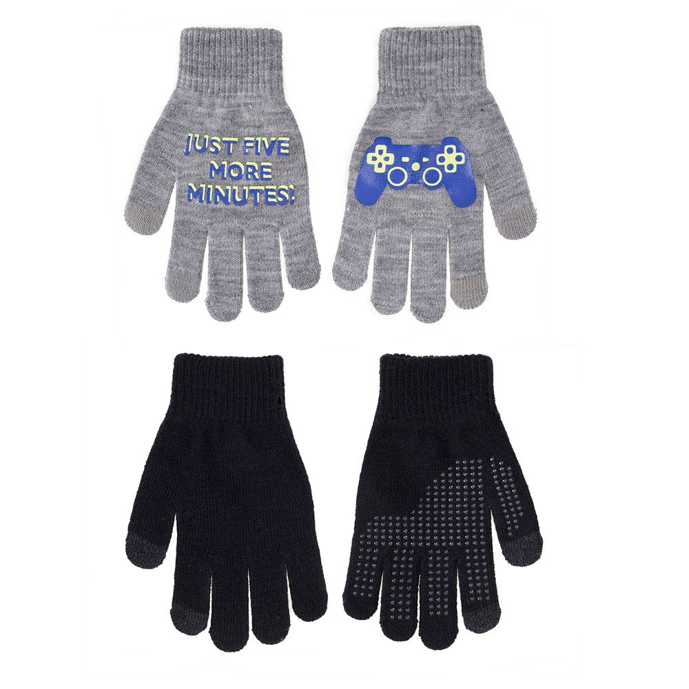 Boys Urban Pipeline™ 2-Pack Gripper Touchscreen Compatible Gloves