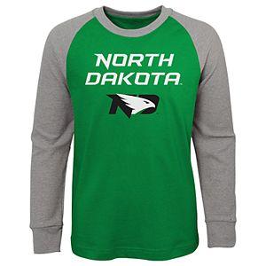 Boys 4-20 North Dakota Fighting Hawks Raglan Tee