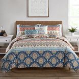 VCNY Madison Reversible Damask Comforter Set