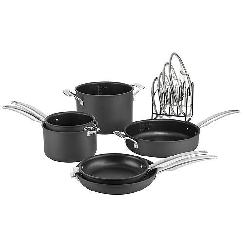 Cuisinart® 11-pc. Nonstick Hard-Anodized Nesting Cookware Set