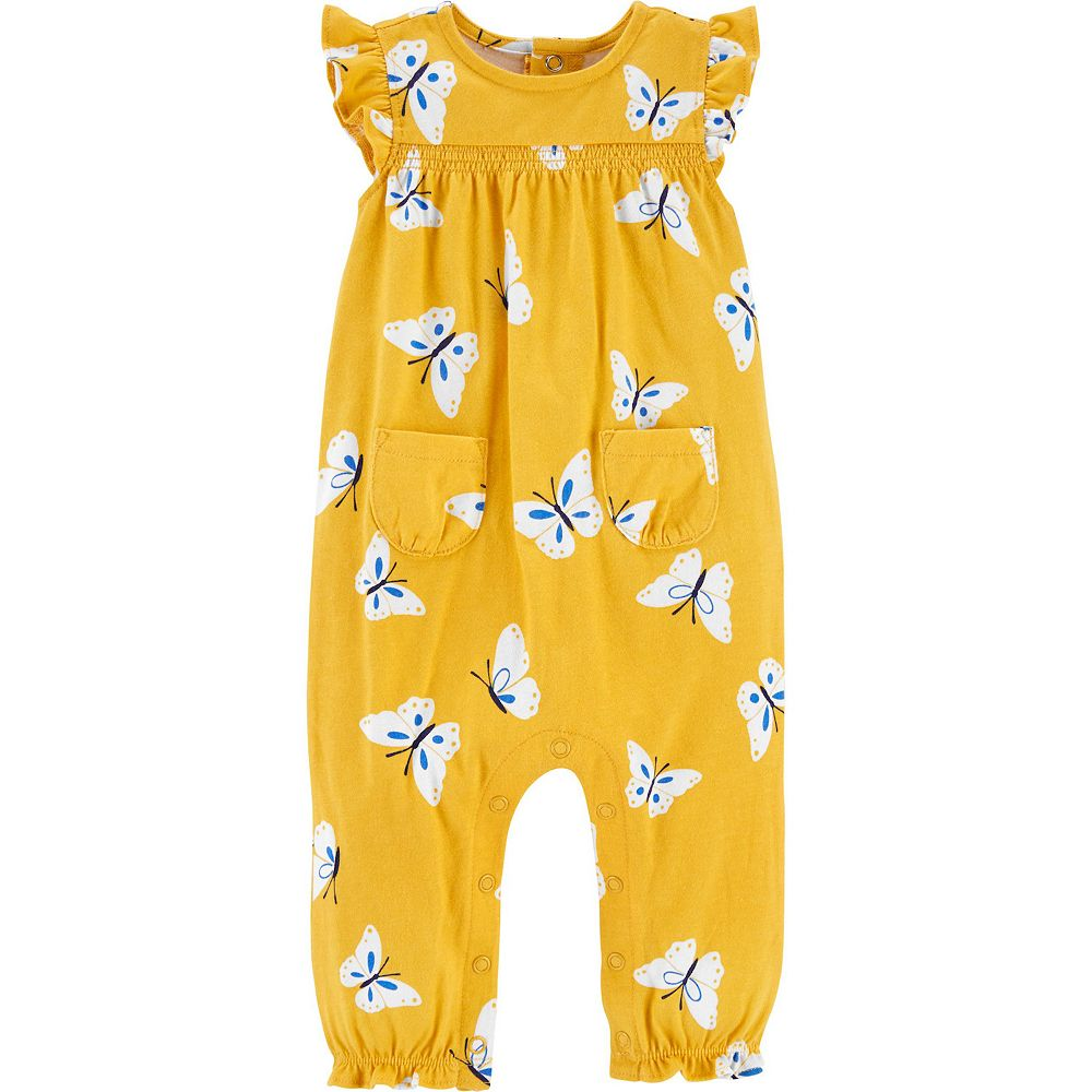 Baby Girl Carter's Butterfly Jersey Jumpsuit