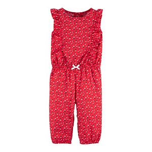 Baby Girl Carter's Floral Ruffle Drapey Jumpsuit