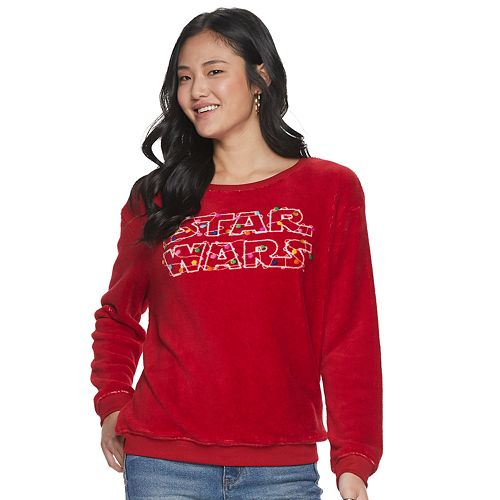 Juniors' Star Wars Holiday Lights Graphic Top