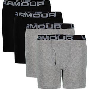 Boys 8-20 Under Armour 4-Pack Performance Cotton Boxer Briefs