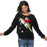 Juniors' Unicorn Christmas Sweater