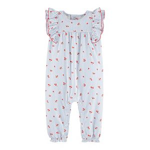 Baby Girl Carter's Striped Floral Jumpsuit