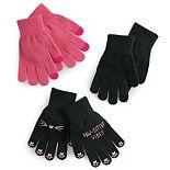 Women's SO® Pawsative Vibes Tech Glove Set