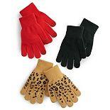 Women's SO® Cheetah Tech Glove Set