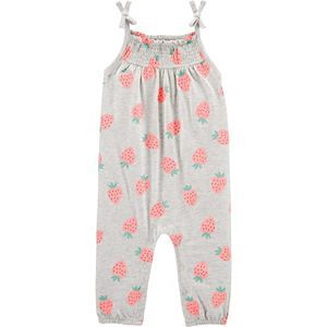 Baby Girl Carter's Strawberry Tank Jersey Jumpsuit