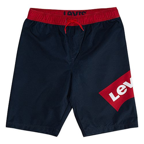 Boys 8-20 Levi's Batwing Logo Swim Trunks