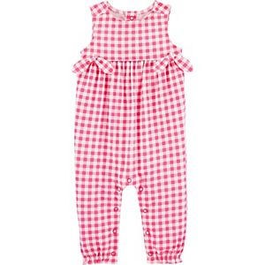 Baby Girl Carter's Gingham Jersey Jumpsuit