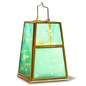 Wanderlust X Quadrilateral Paneled Lantern W/ 3ft LED String Lights